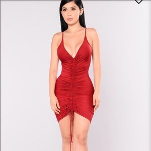 FASHION NOVA SHANGHAI RUCHED MINI DRESS MEDIUM
